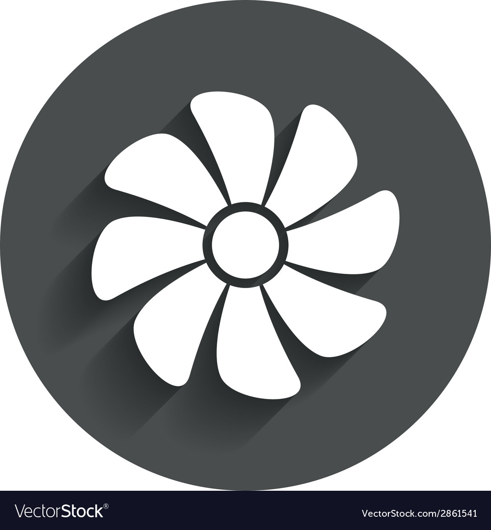 Ventilation sign icon ventilator symbol vector | Price: 1 Credit (USD $1)