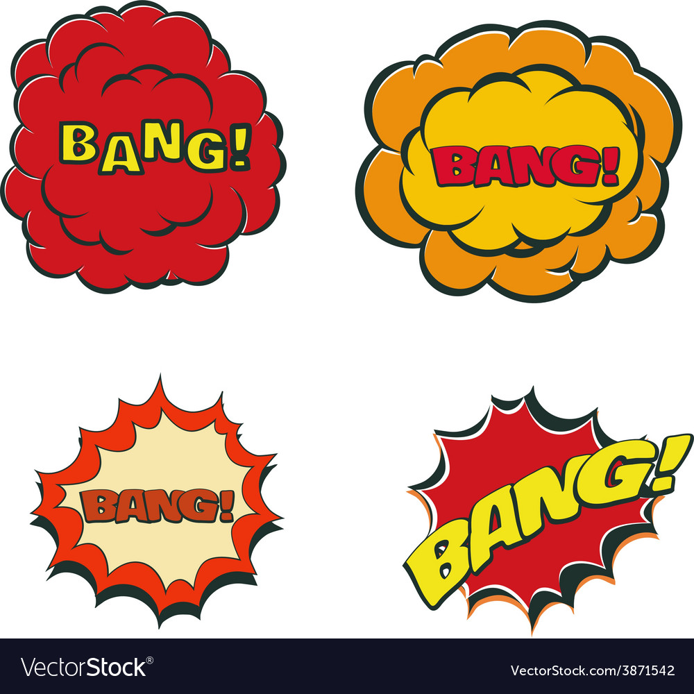Bang blast flash comics blow isolated on white vector | Price: 1 Credit (USD $1)