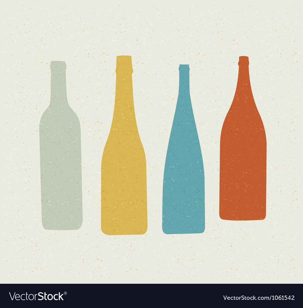 Bottle retro poster vector | Price: 1 Credit (USD $1)