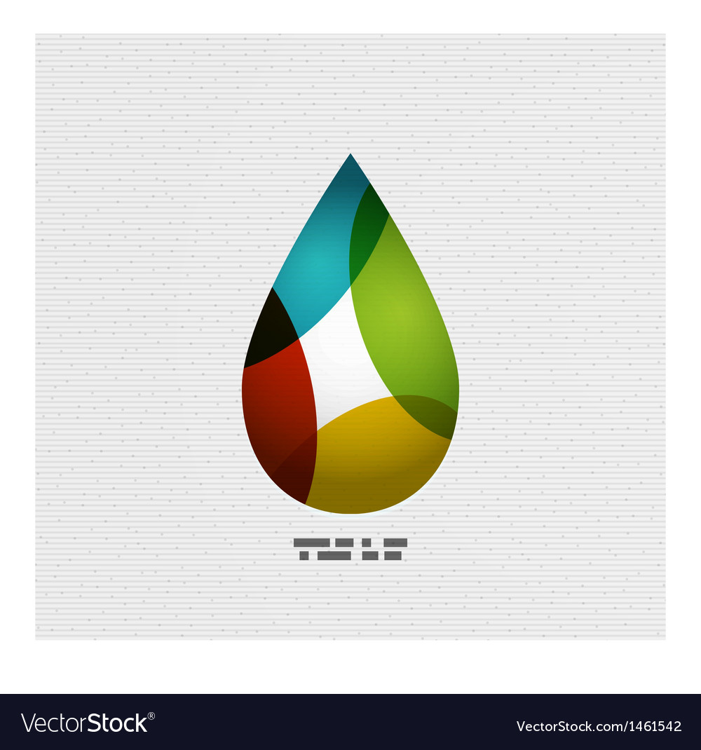 Colorful paper water drop vector | Price: 1 Credit (USD $1)