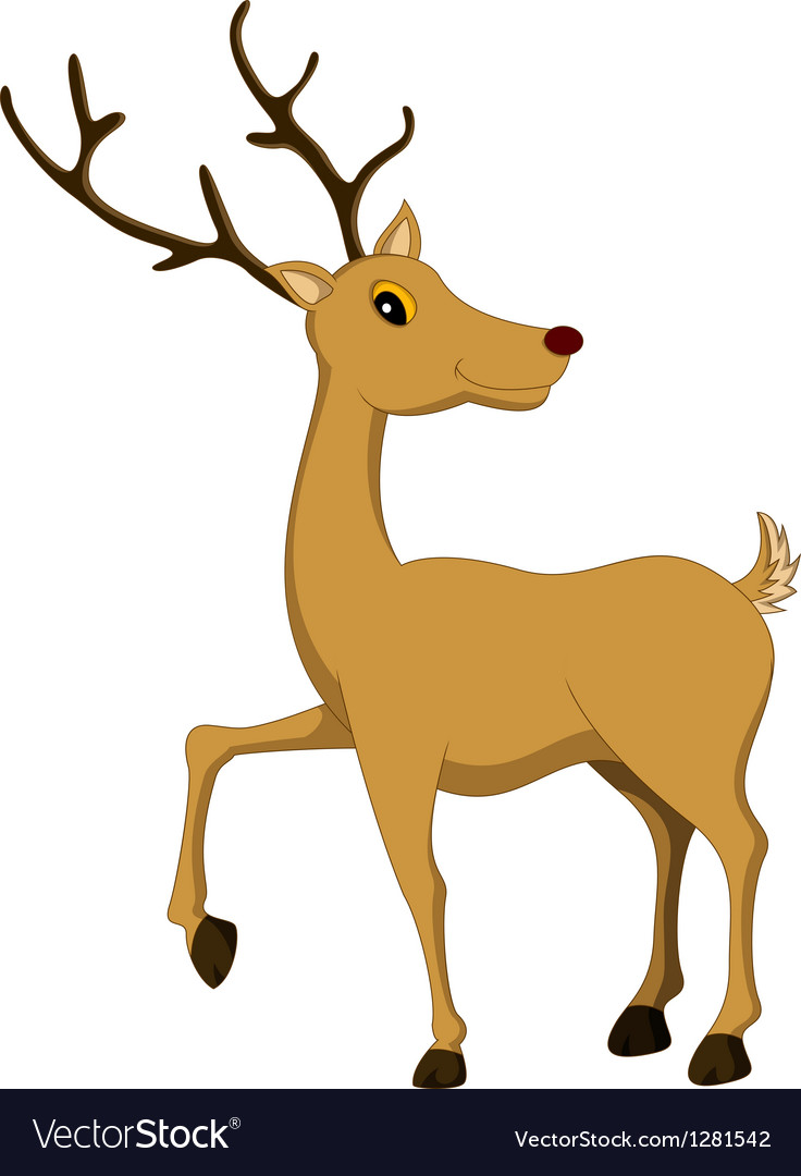 Cute deer cartoon vector | Price: 1 Credit (USD $1)