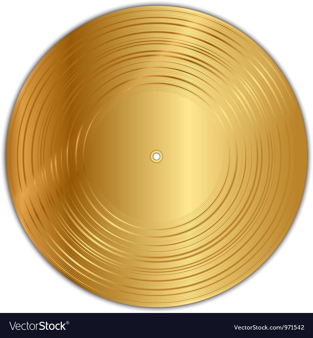 Golden vinyl record vector | Price: 1 Credit (USD $1)