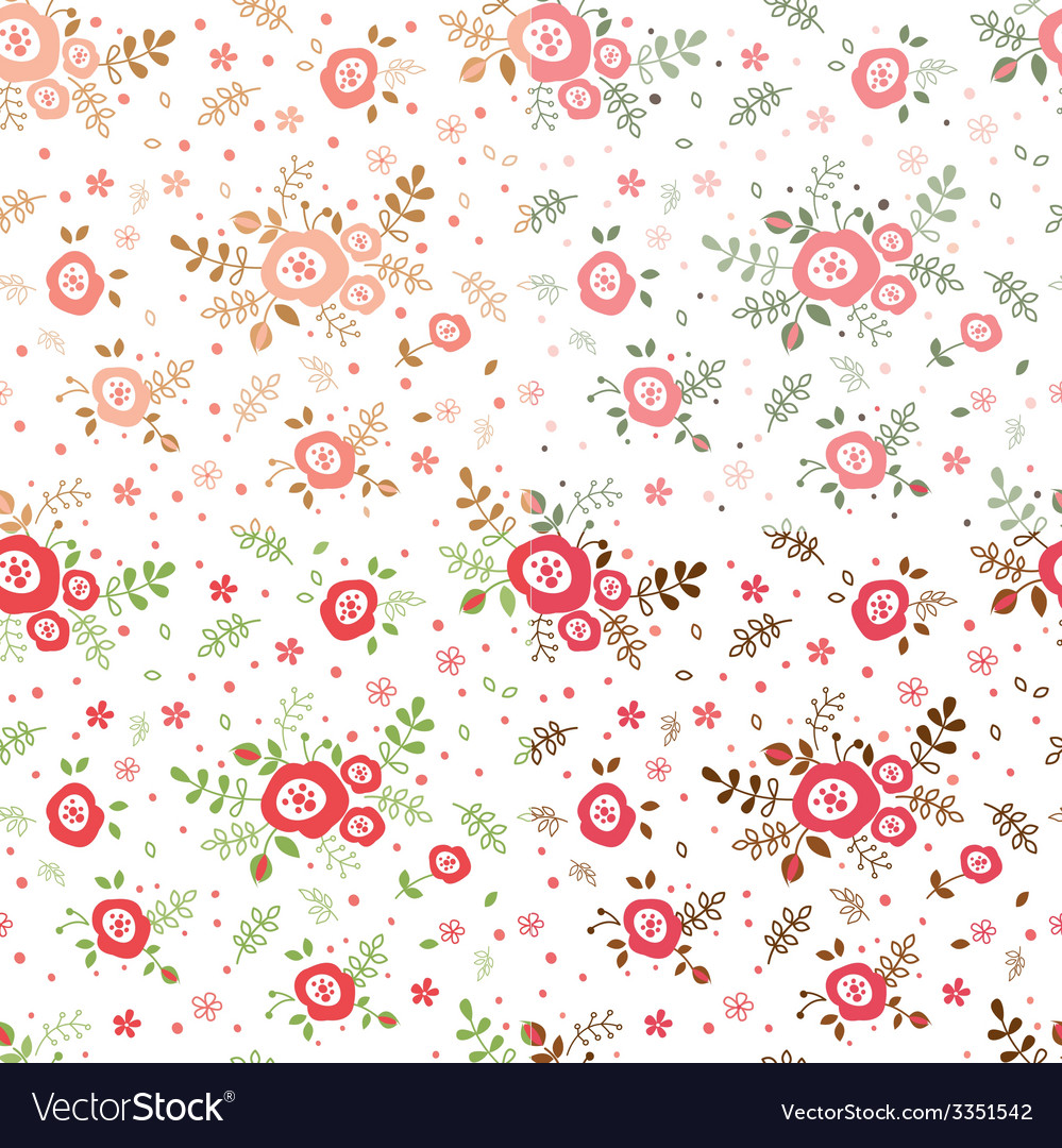 Rose seamless patterns vector | Price: 1 Credit (USD $1)