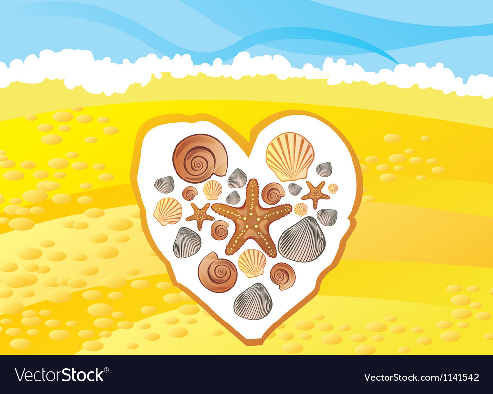 Sea cockleshell vector | Price: 1 Credit (USD $1)