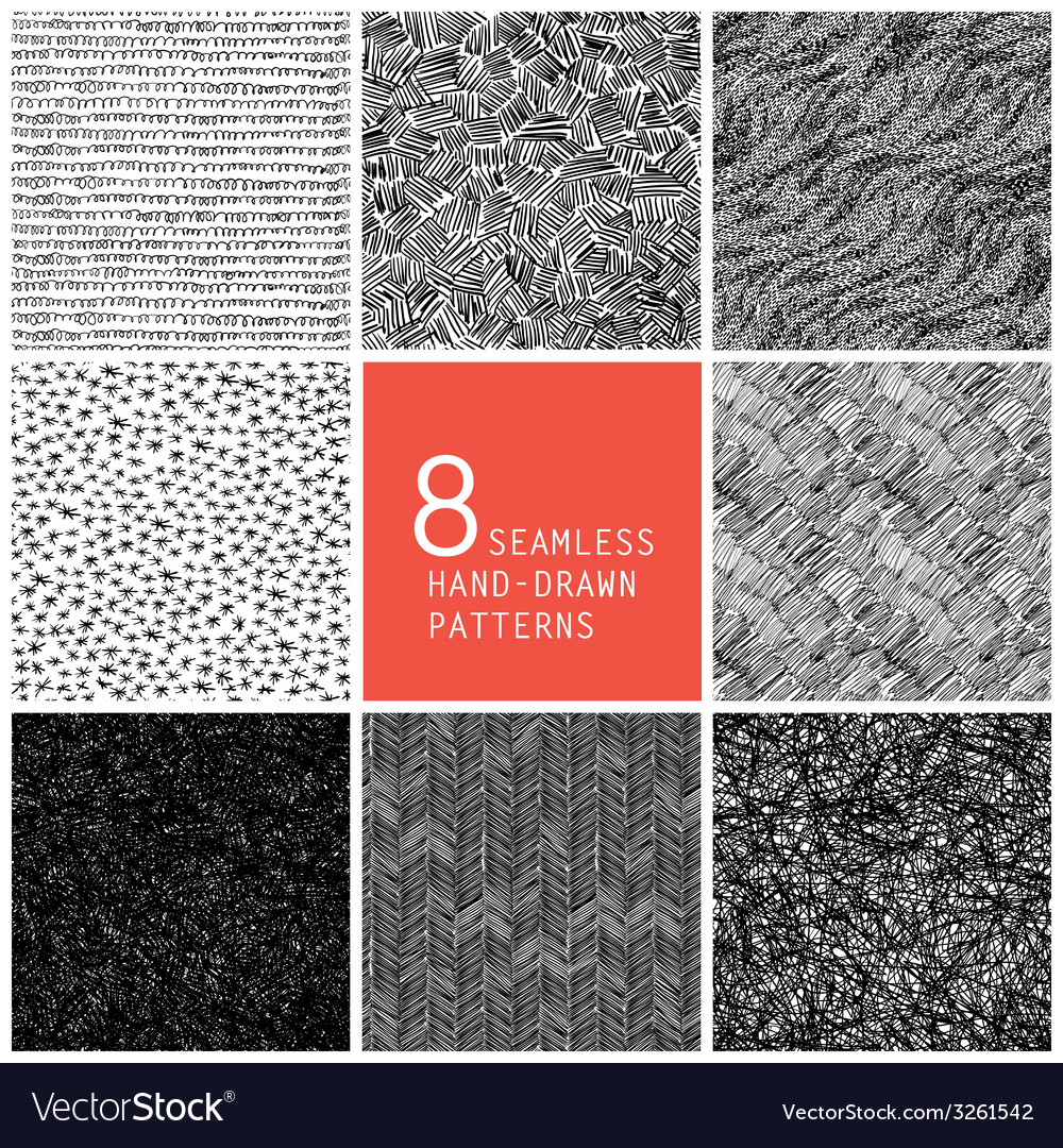 Seamless patterns collection vector | Price: 1 Credit (USD $1)