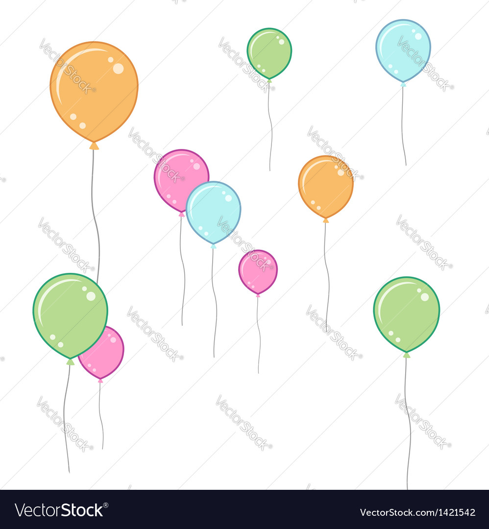 Soft coloured balloons vector | Price: 1 Credit (USD $1)