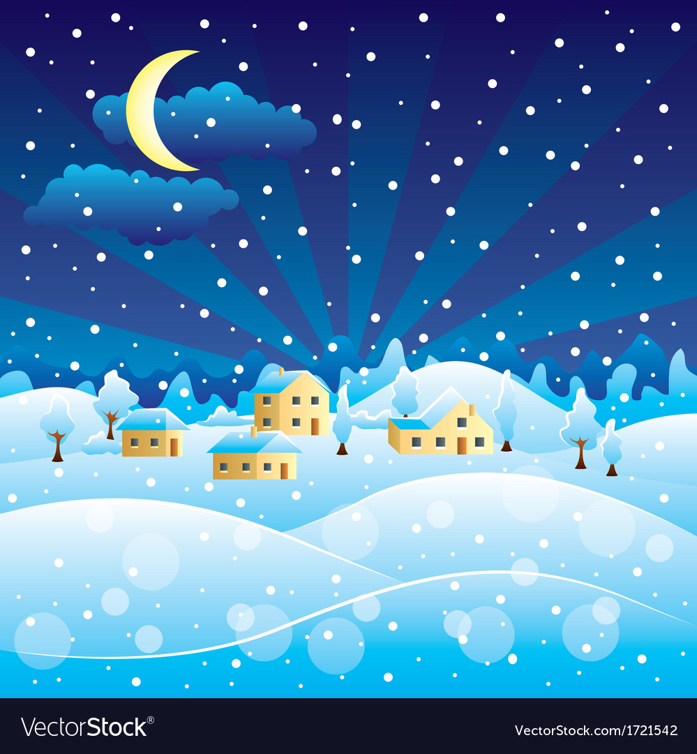 Winter scenery vector | Price: 1 Credit (USD $1)