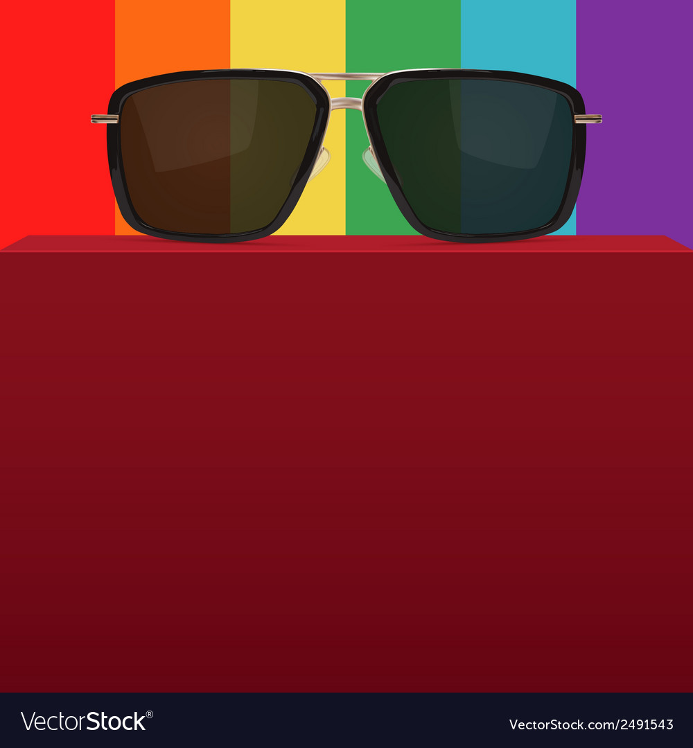 Abstract background with realistic sunglasses vector | Price: 1 Credit (USD $1)