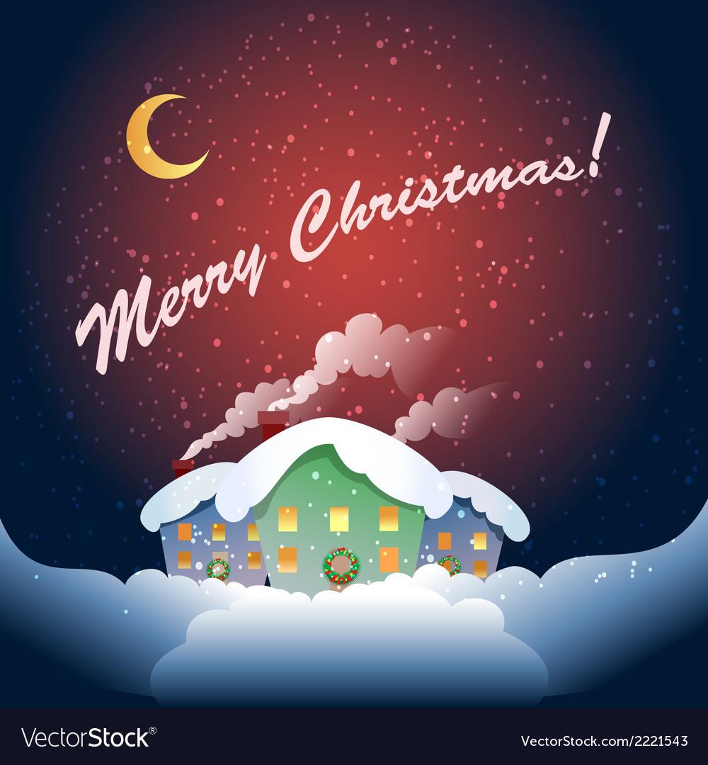Christmas village vector   Price: 1 Credit (USD $1)