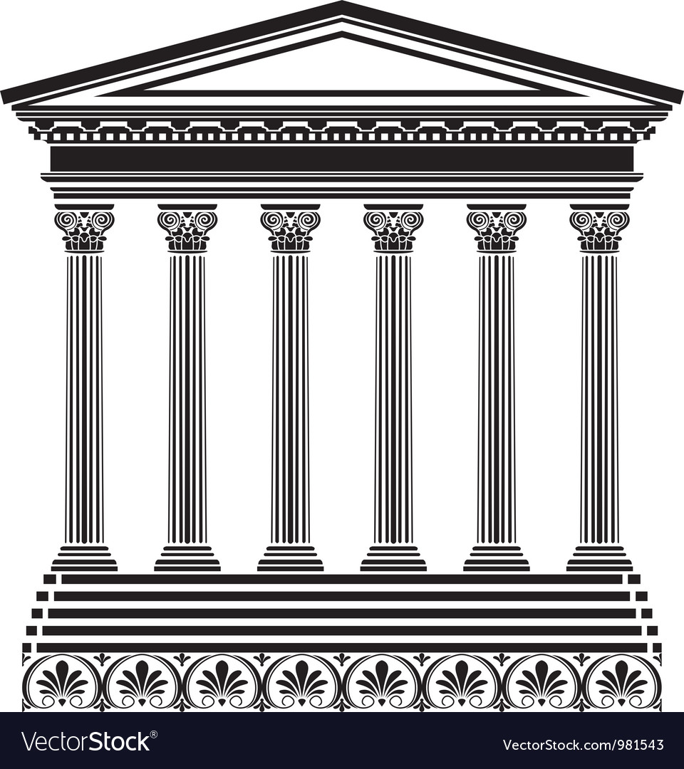 Greec temple vector | Price: 1 Credit (USD $1)