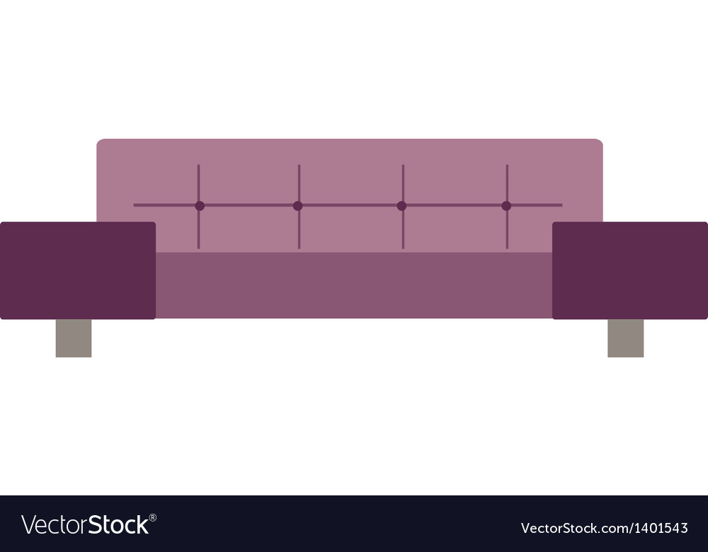 Icon sofa vector | Price: 1 Credit (USD $1)