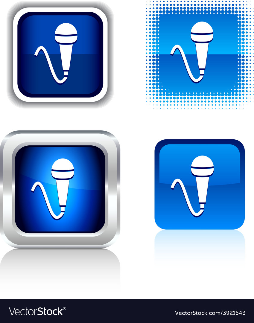 Mic icons vector | Price: 1 Credit (USD $1)