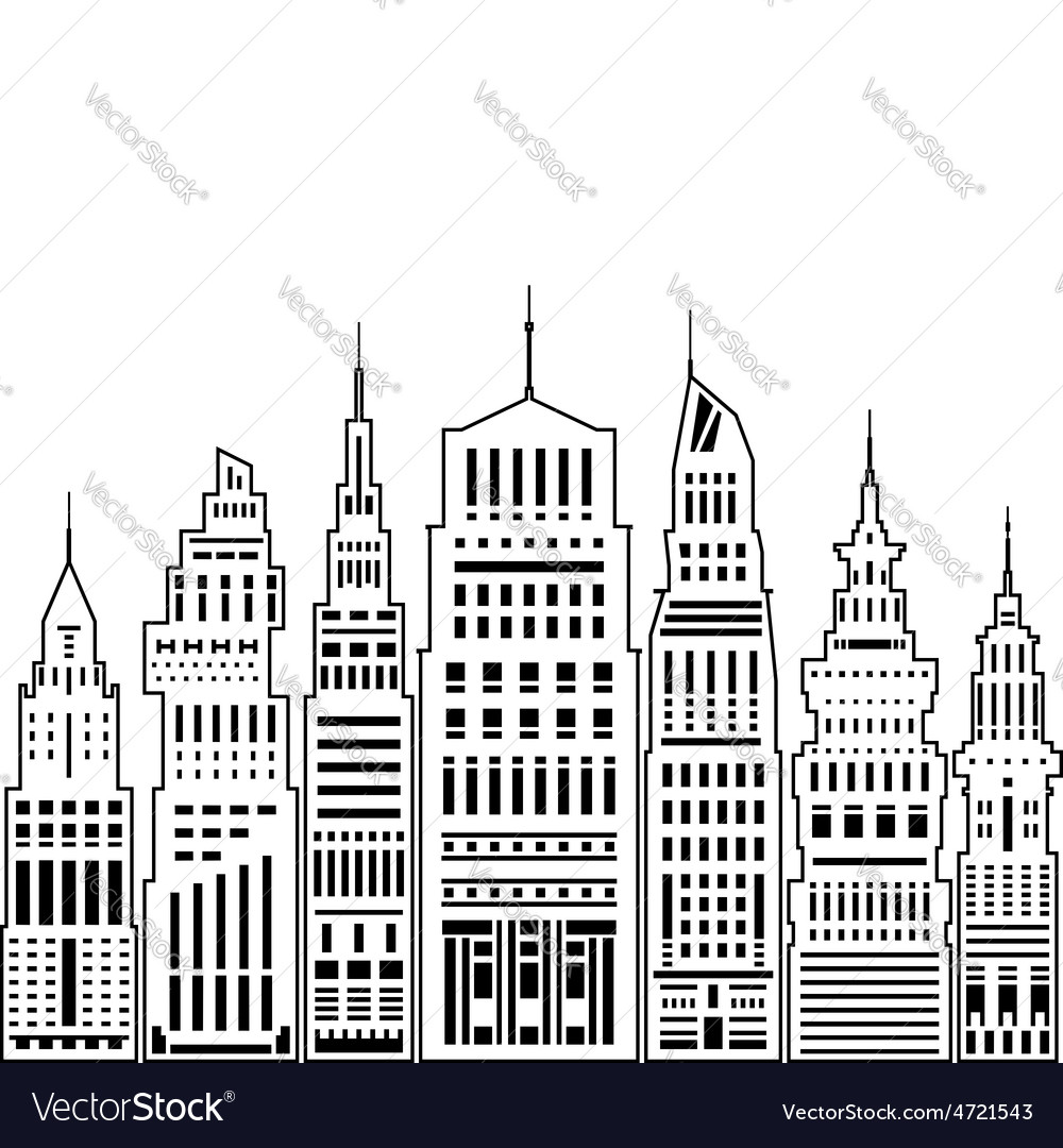 Modern big city vector | Price: 1 Credit (USD $1)