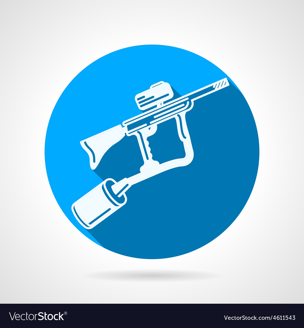 Paintball rifle round icon vector | Price: 1 Credit (USD $1)