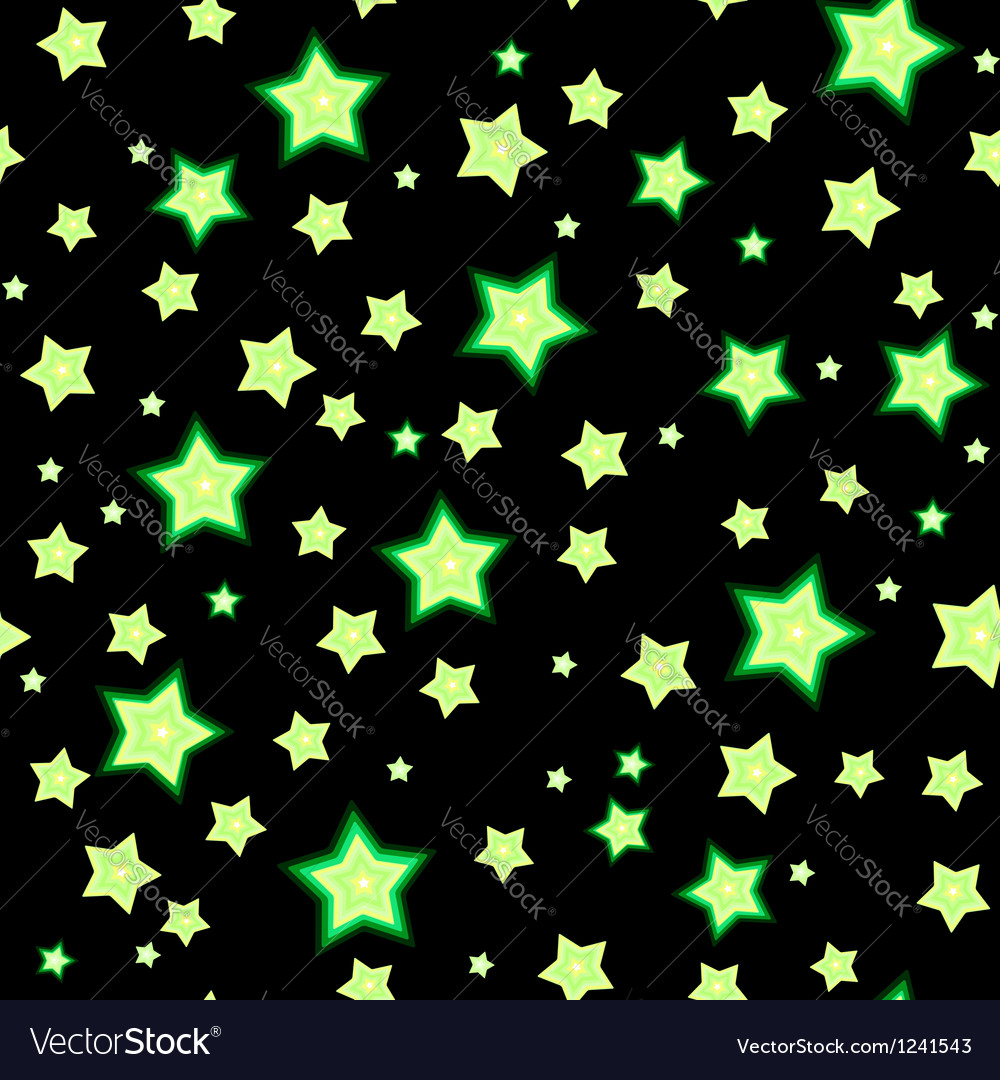 Seamless bacgkround with cartoon fluorescent stars vector | Price: 1 Credit (USD $1)