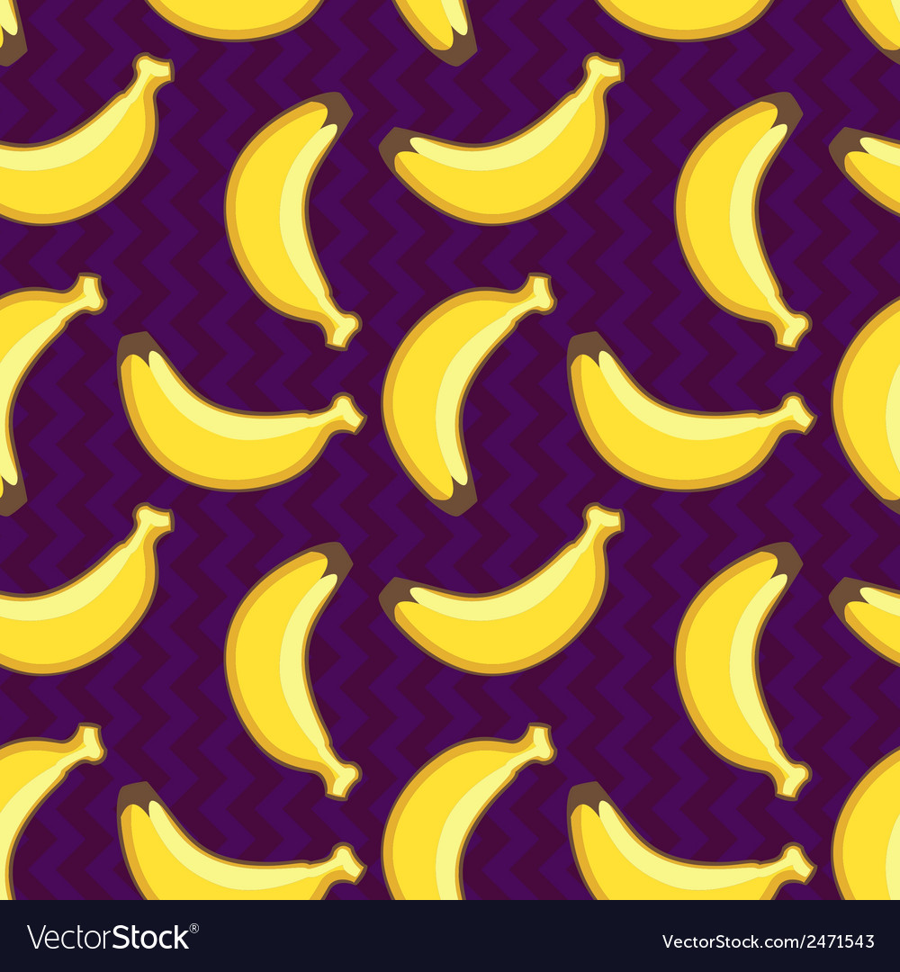 Seamless pattern with yellow bananas vector | Price: 1 Credit (USD $1)