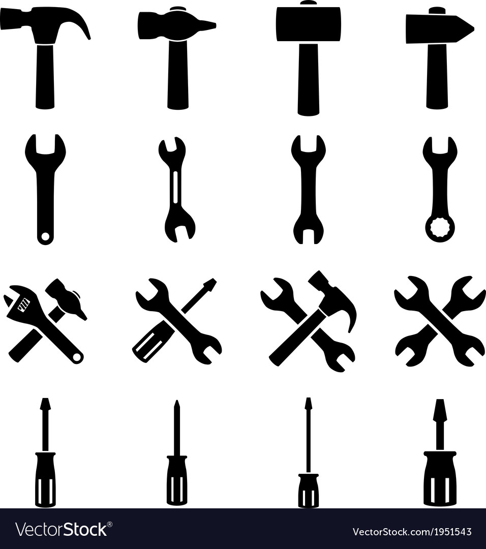 Set icons of tools vector | Price: 1 Credit (USD $1)
