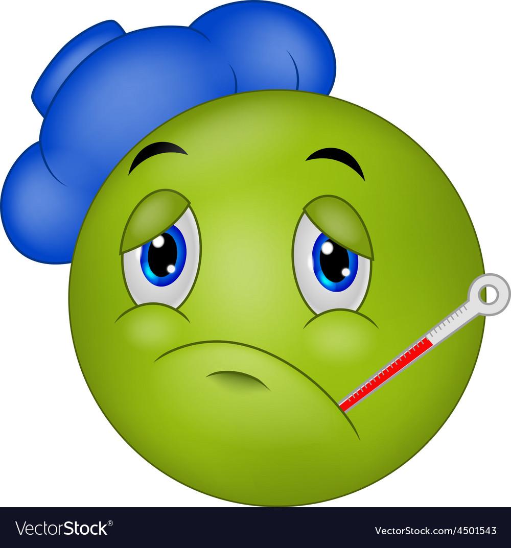 Sick emoticon smiley vector | Price: 1 Credit (USD $1)