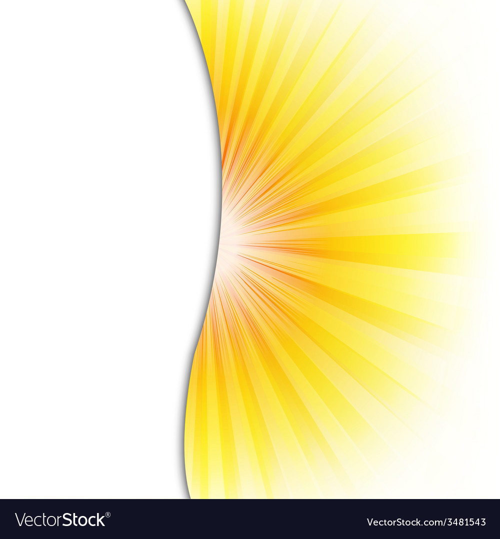 Summer poster with beams vector | Price: 1 Credit (USD $1)