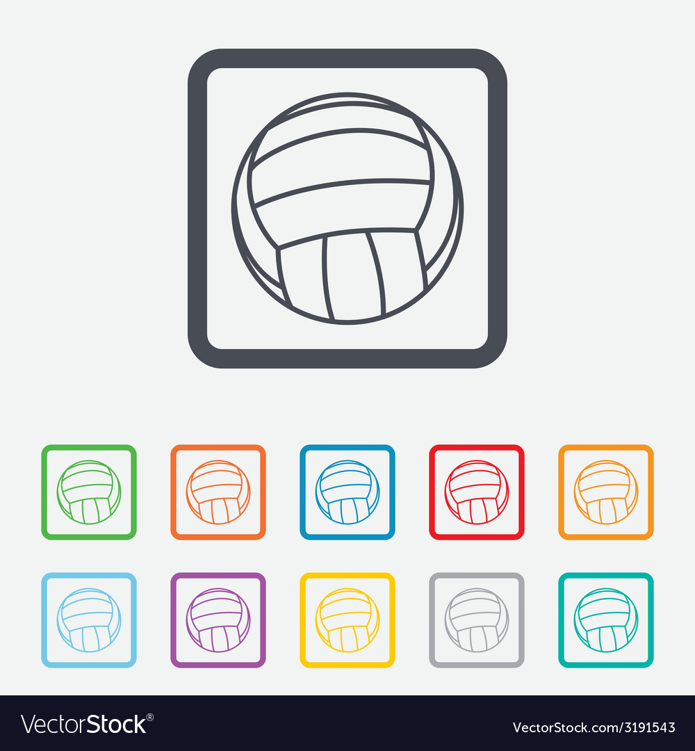 Volleyball sign icon beach sport symbol vector   Price: 1 Credit (USD $1)