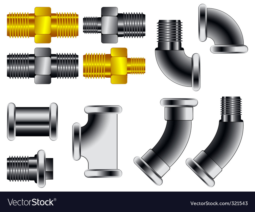 Water pipe connectors vector | Price: 1 Credit (USD $1)