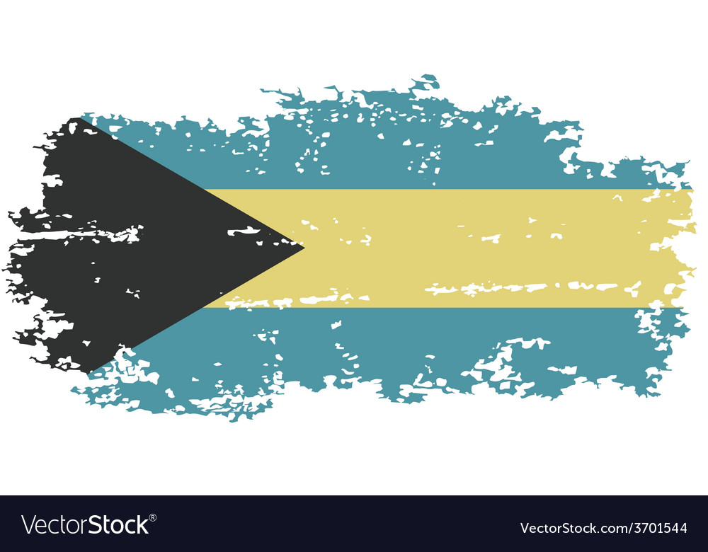 Bahamas grunge flag vector | Price: 1 Credit (USD $1)