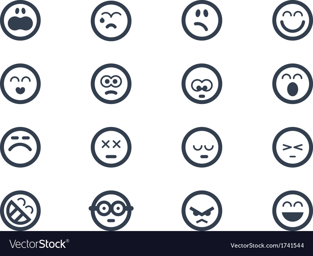 Emoticons vector | Price: 1 Credit (USD $1)