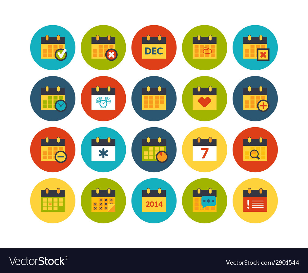 Flat icons set 16 vector | Price: 1 Credit (USD $1)