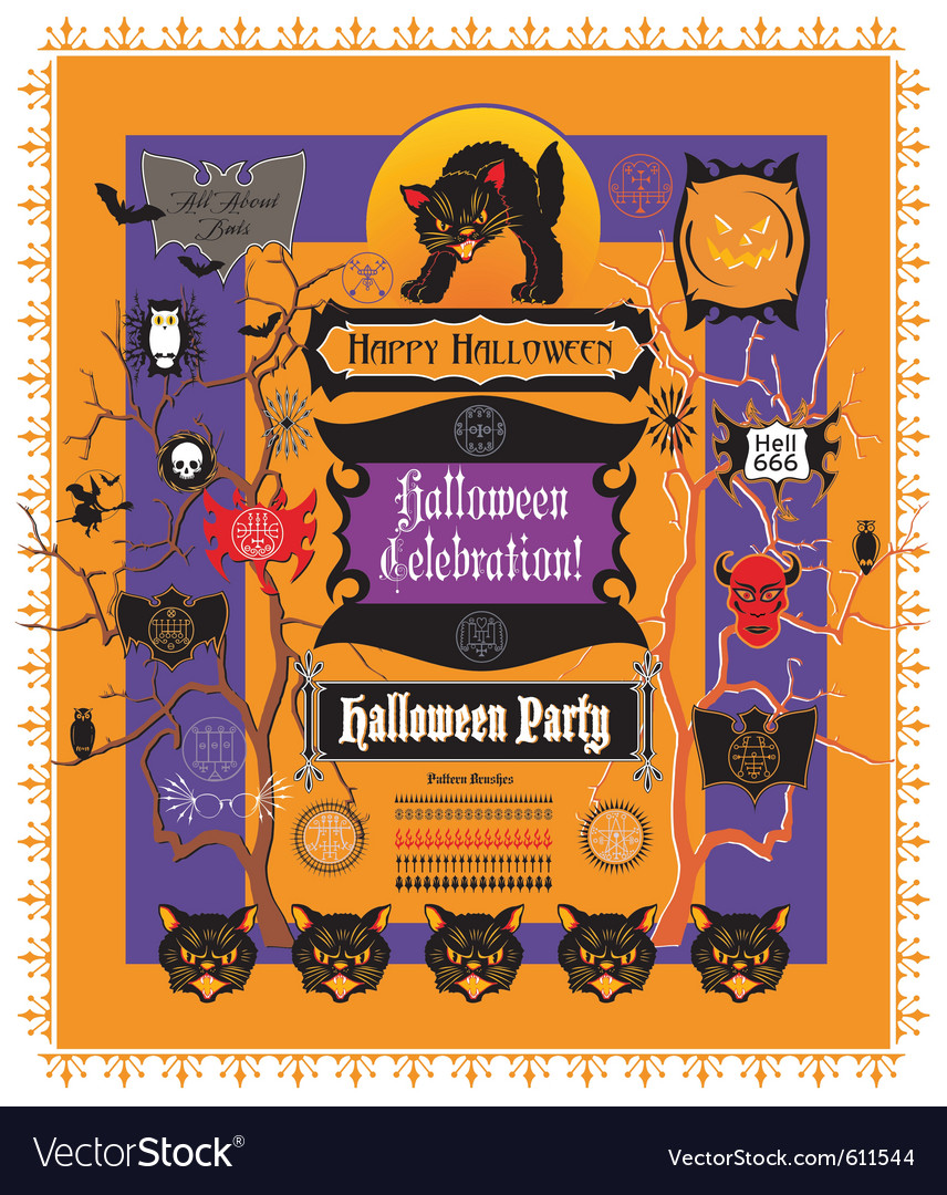 Halloween elements vector | Price: 3 Credit (USD $3)