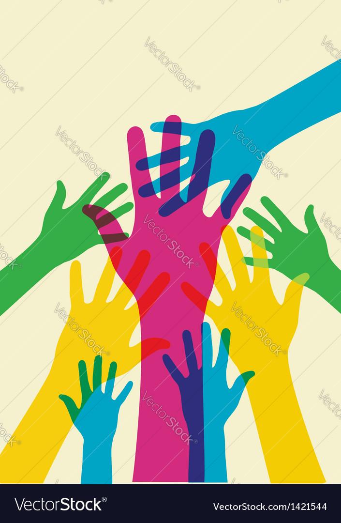 Helping hands vector | Price: 1 Credit (USD $1)