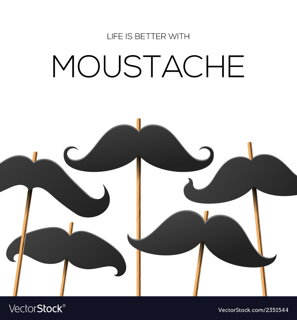 Hipster party design template with mustache vector | Price: 1 Credit (USD $1)