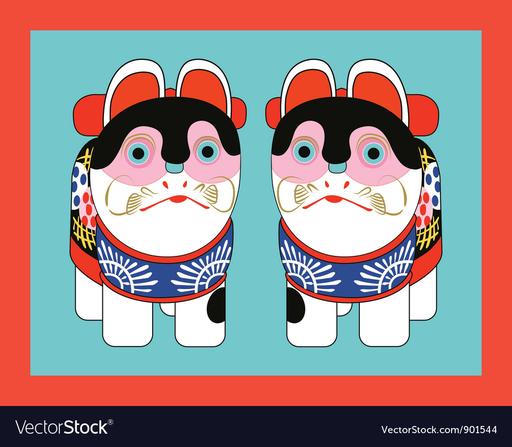 Japanese toy cats vector | Price: 1 Credit (USD $1)