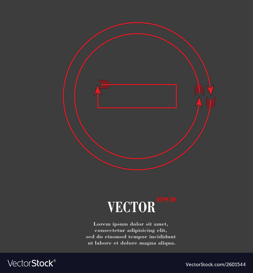 Minus flat modern web button and space for your vector | Price: 1 Credit (USD $1)