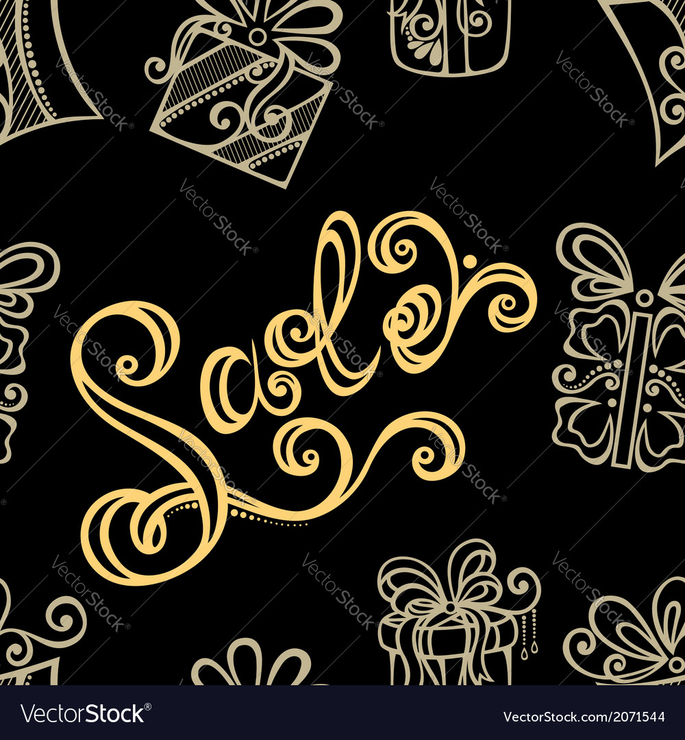 Seamless ornate pattern with shoes vector | Price: 1 Credit (USD $1)