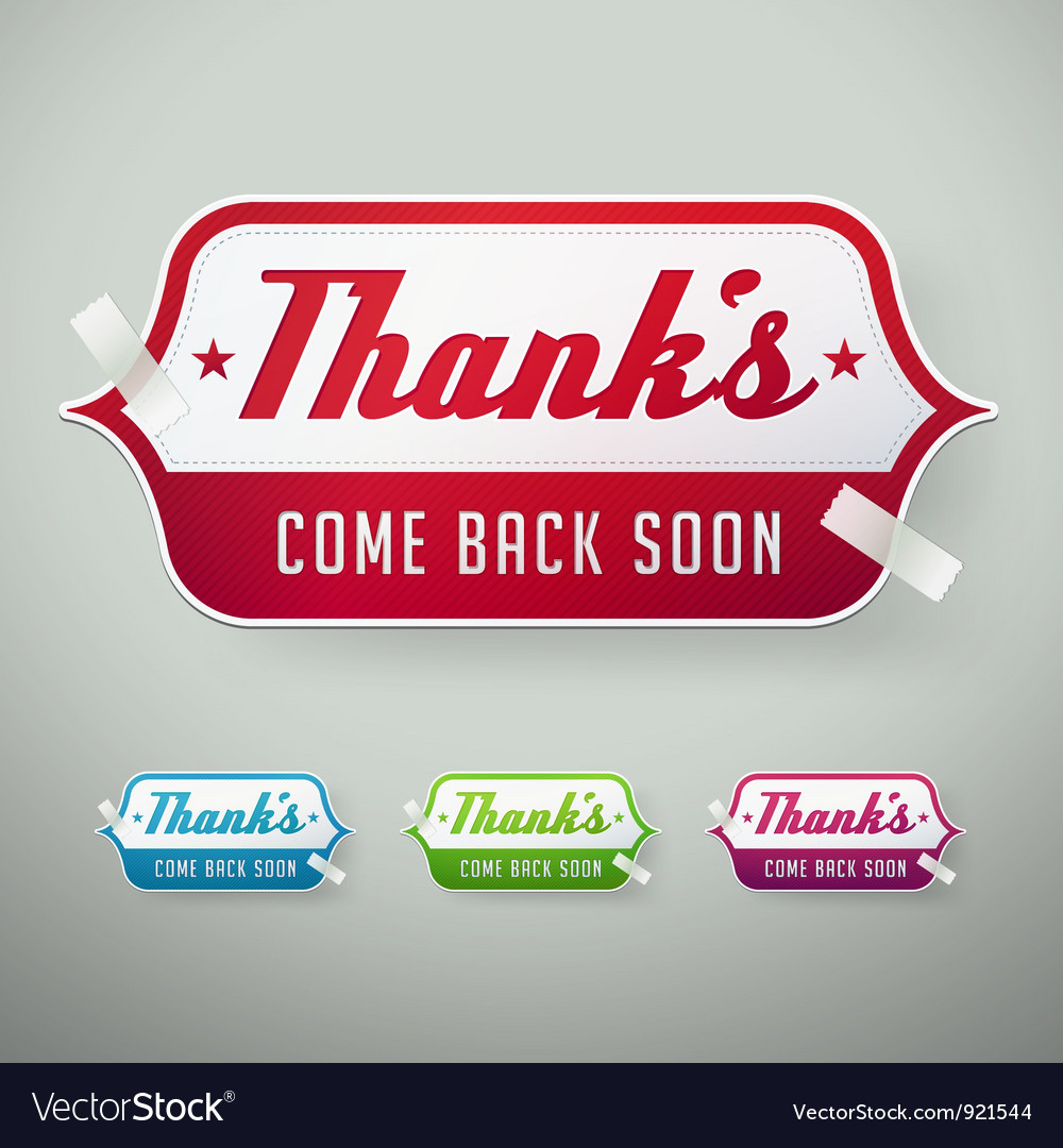 Thank you labels vector | Price: 1 Credit (USD $1)