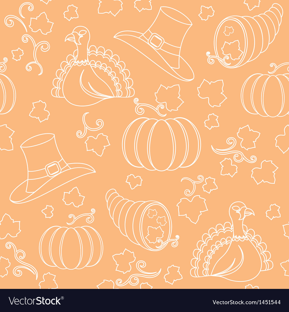 Thanksgiving pattern vector | Price: 1 Credit (USD $1)