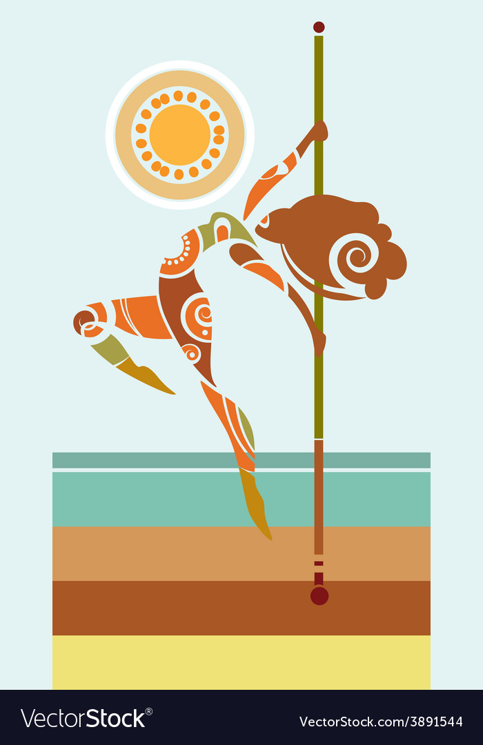 Tribal pole dancer vector | Price: 1 Credit (USD $1)