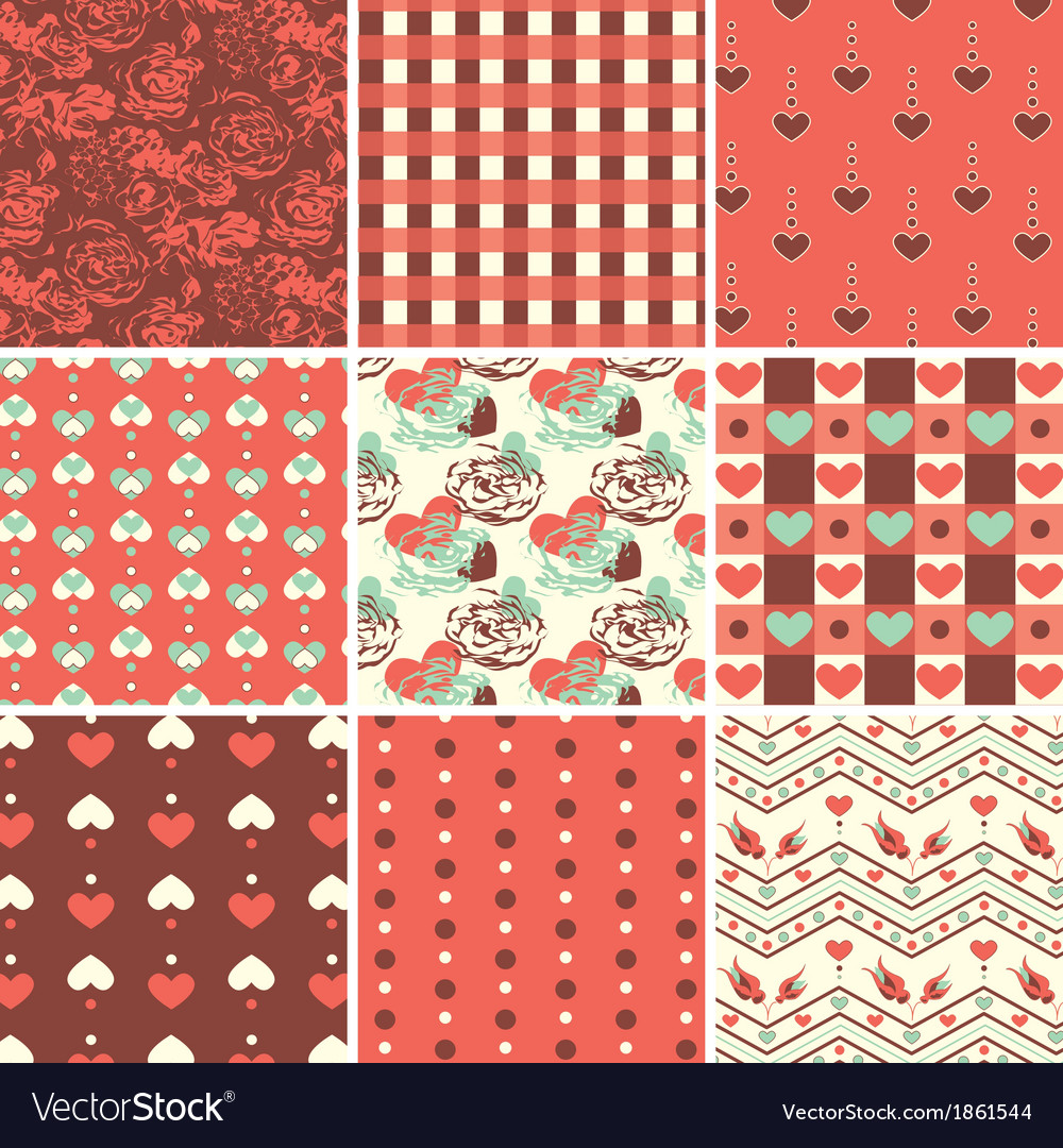 Vintage romantic seamless vector | Price: 1 Credit (USD $1)