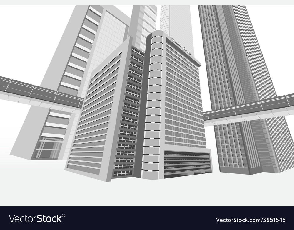 Building exterior vector | Price: 1 Credit (USD $1)