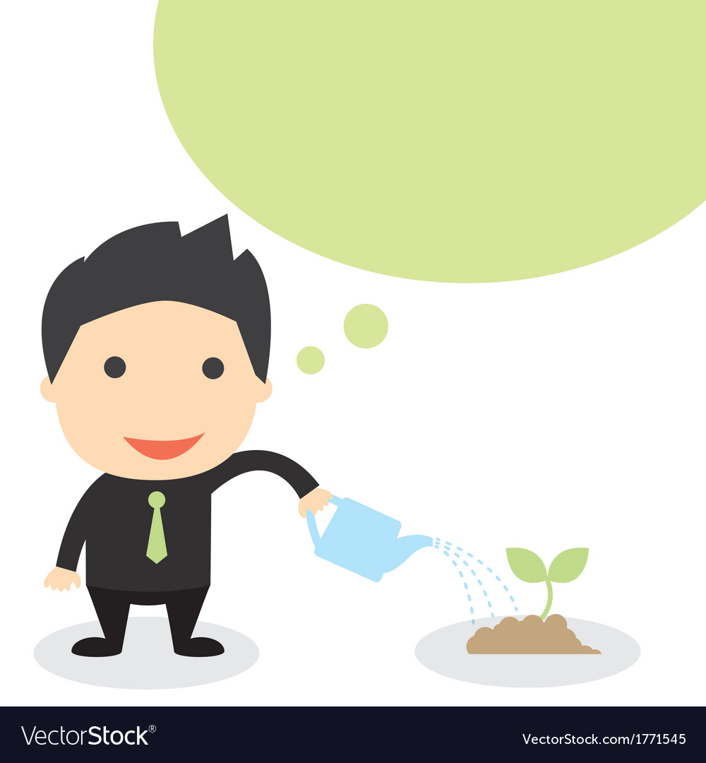 Business grow vector | Price: 1 Credit (USD $1)