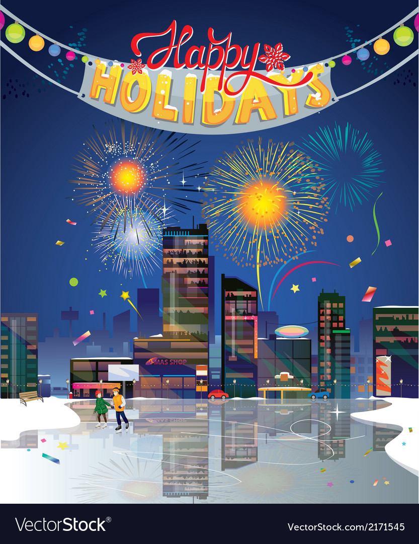 City holidays vector | Price: 3 Credit (USD $3)