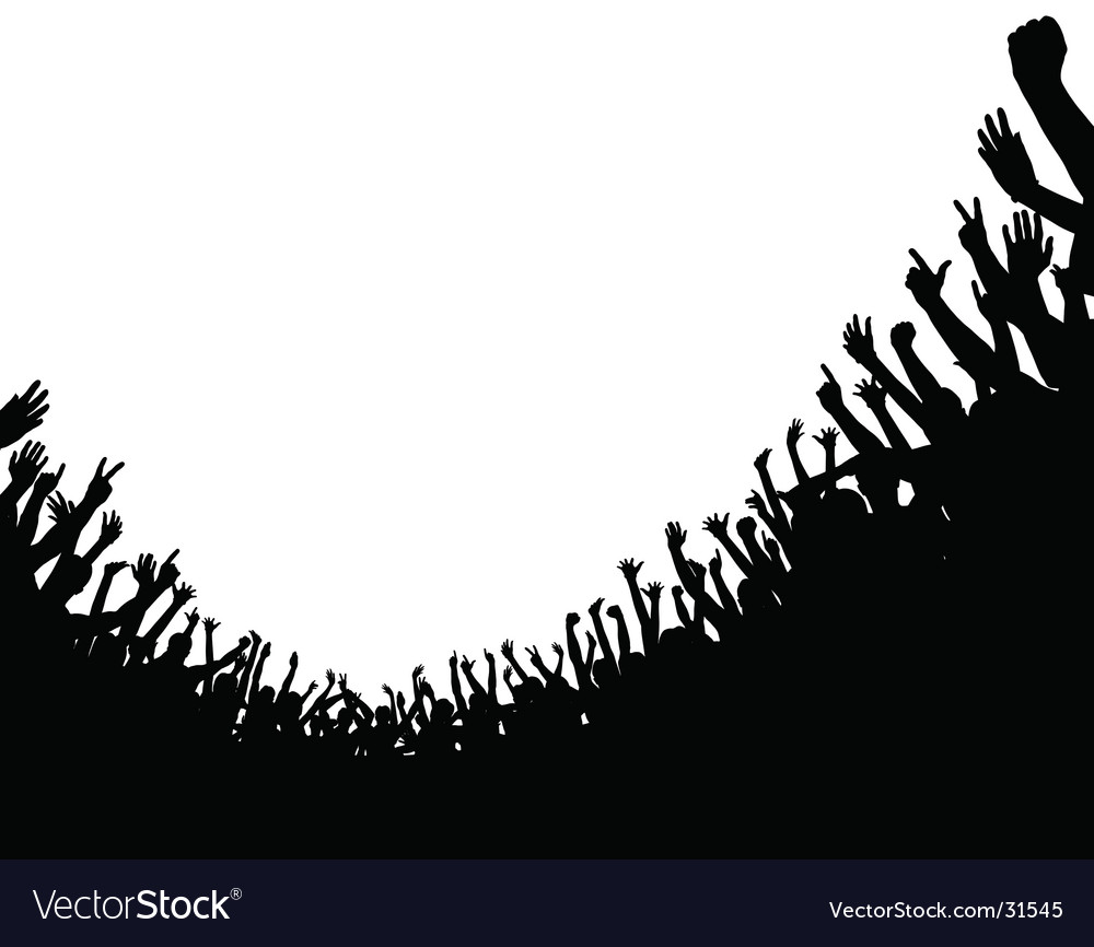 Crowd foreground vector | Price: 1 Credit (USD $1)