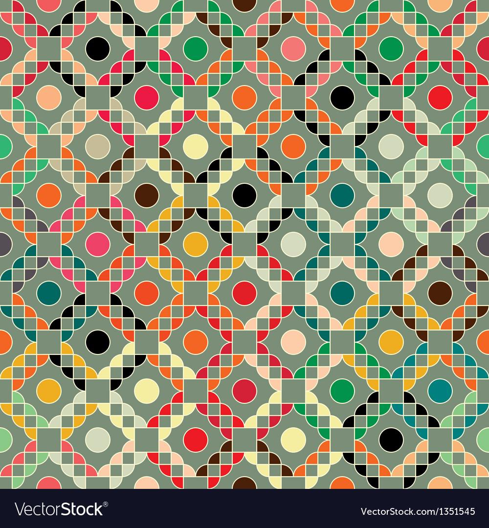 Grid geometric ornament vector | Price: 1 Credit (USD $1)