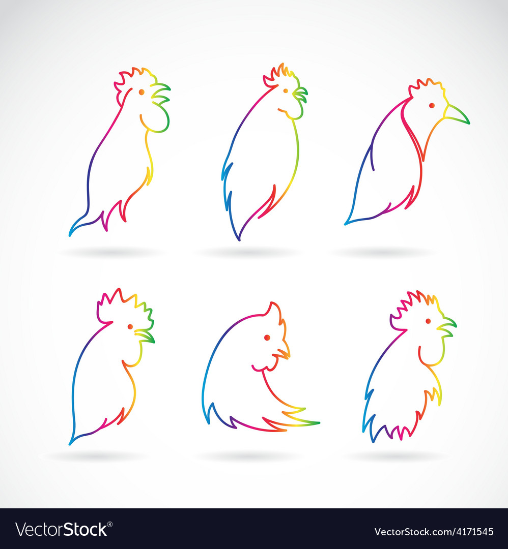 Image of an chicken head vector | Price: 1 Credit (USD $1)