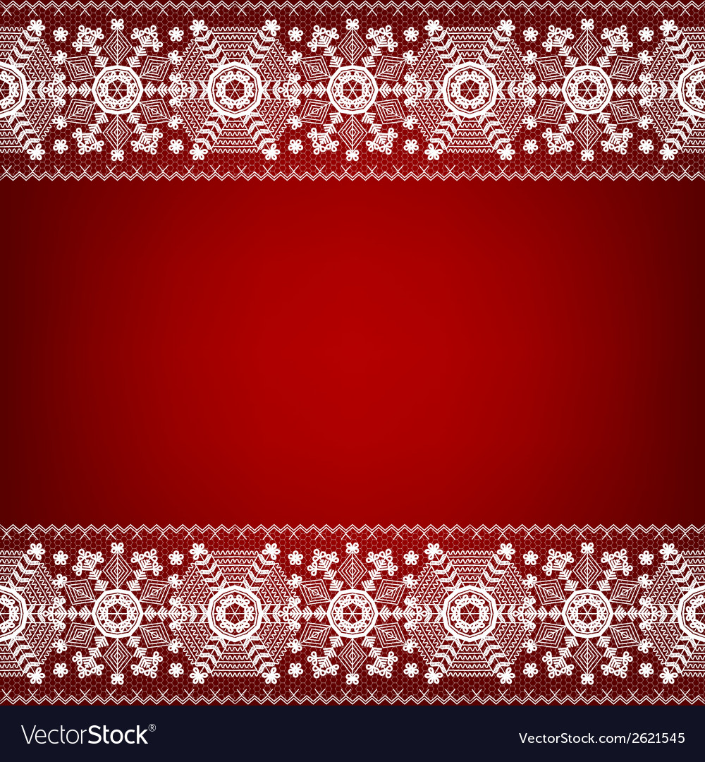 Lace border with snowflakes vector | Price: 1 Credit (USD $1)