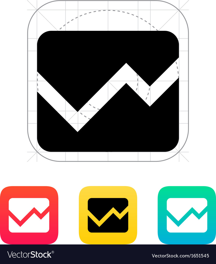 Line chart icon vector | Price: 1 Credit (USD $1)
