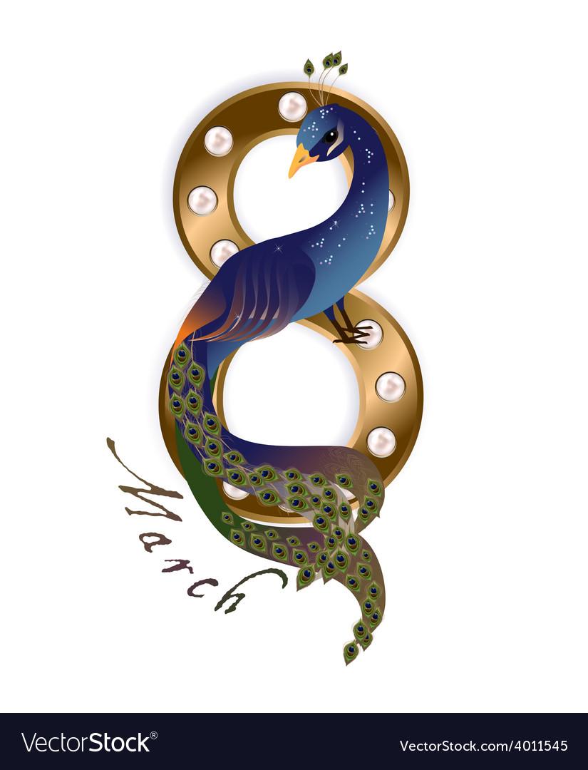 March 8 peacock vector   Price: 1 Credit (USD $1)