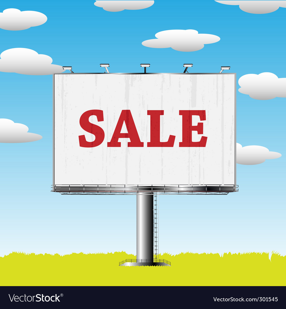 Outdoor billboard vector | Price: 3 Credit (USD $3)