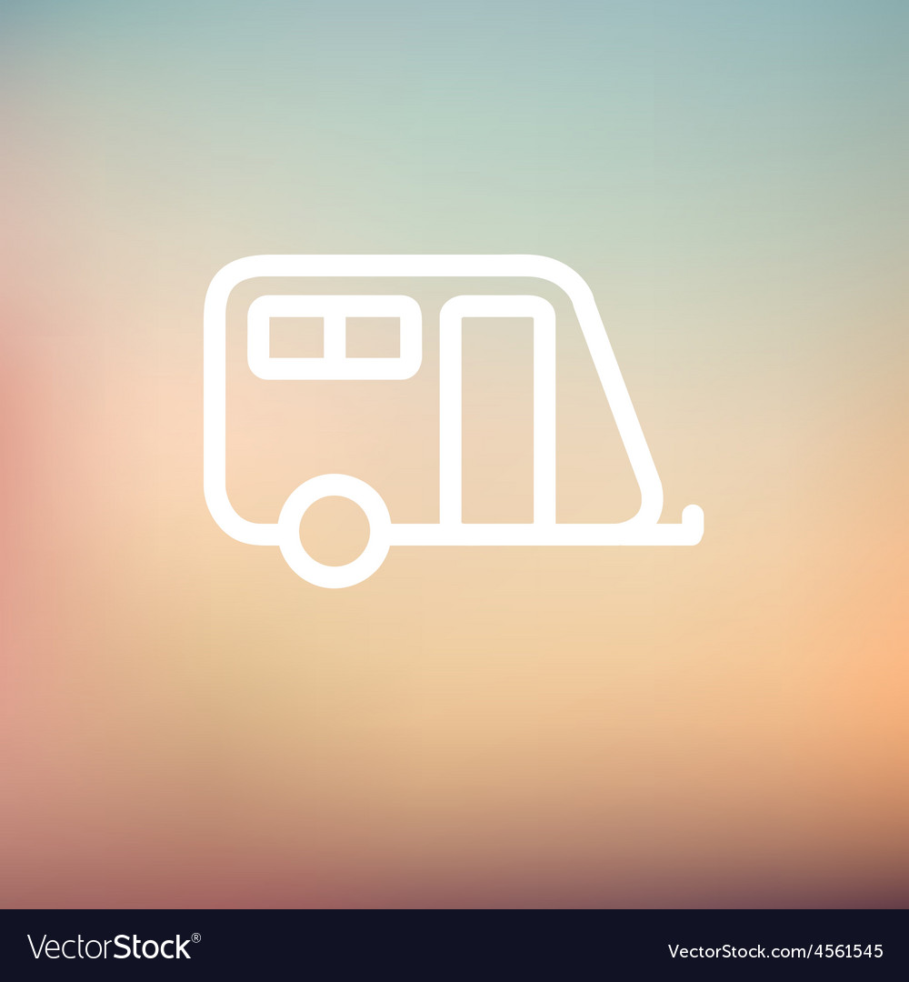 Pulling cab thin line icon vector | Price: 1 Credit (USD $1)