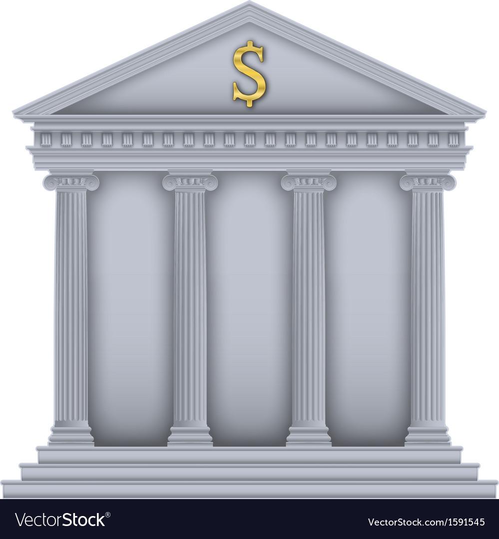 Romangreek temple bank symbol vector | Price: 1 Credit (USD $1)